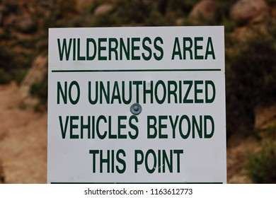 Wilderness Area Sign