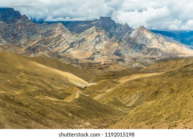 Wilderness high way in north of india, road from Kargil to Leh, Ladakh