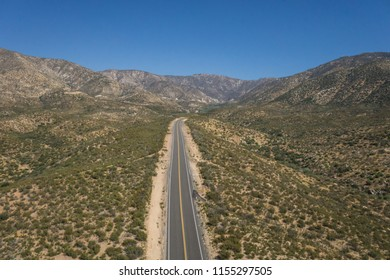 Wilderness road leads into the desert hills of southern California.