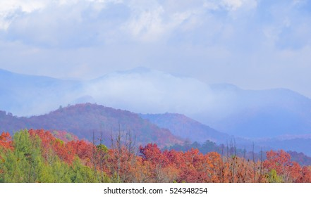 Wildfires have been burning in the north Georgia mountains for weeks.  This is a view of the smoke from the Popcorn overlook in Clayton, GA.