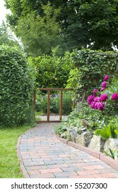 (wild)-garden path with natural stone