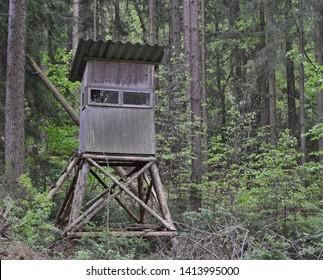 wildlife observation point. South Bohemia, Czech Republic
