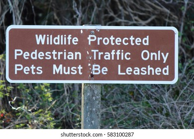 WILDLIFE PROTECTED SIGN