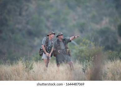 Wildlife rangers in the wilderness Pilanesberg South Africa 2016 July the 6th