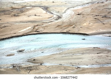 wildness background with water and many quicksand