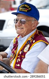 Wildwood, New Jersey, USA - June 20, 2015: War Hero and POW of World War II at Veterans of Foreign Wars (VFW) annual parade in Wildwood, New Jersey on June 20, 2015.