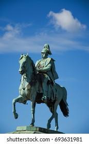 Wilhelm II horse statue in Cologne ,Koln, Germany , 2017