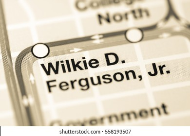 Wilkie D.  Ferguson Jr. Station. Miami metro map.