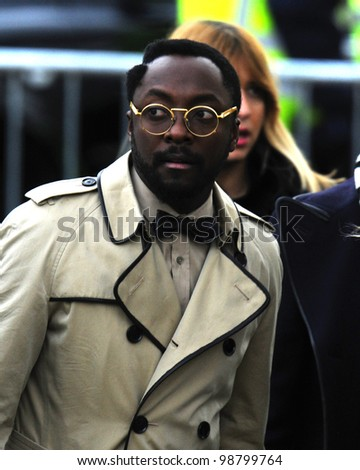 c6d859906394 Will I Am arriving for the Burberry Prorsum fashion show as part of London  Fashion Week