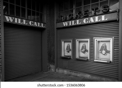 The will call section outside of Fenway Park.