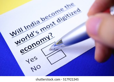 Will India become the world's most digitized economy?  Yes