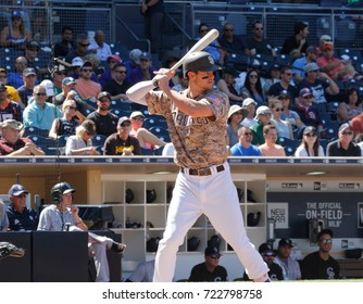 Will Meyers first baseman for the San Diego Padres at Petco Park in San Diego California USA September 23,2017.