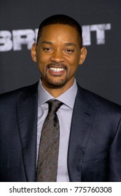 "Will Smith attends the Netflix ""Bright"" premiere on Dec. 13, 2017 at the Regency Village Theatre in Los Angeles, CA."
