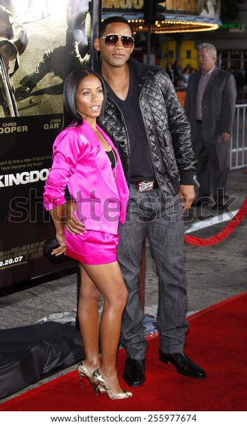 """Will Smith and Jada Pinkett Smith attend the Los Angeles Premiere of """"The Kingdom"""" held at the Mann Village Theater in Westwood, California, United States on September 17, 2007."""