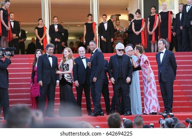 Will Smith, Pedro Almodovar attends the 'Ismael's Ghosts (Les Fantomes d'Ismael)' screening and Opening Gala during the 70th annual Cannes Film Festival at Palais  on May 17, 2017 in Cannes, France.