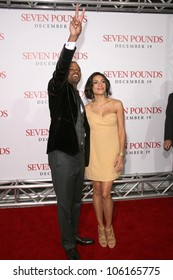 Will Smith and Rosario Dawson   at the Los Angeles Premiere of 'Seven Pounds'. Mann Village Theatre, Westwood, CA. 12-16-08