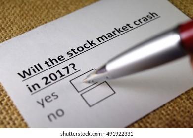 Will the stock market crash ?