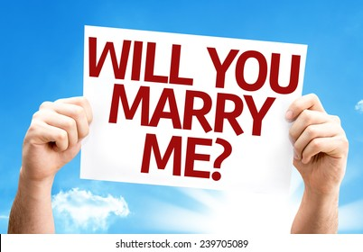 Will You Marry Me? card with a beautiful day