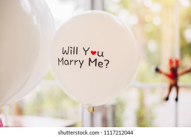 will you marry me on ballon. Propose write on balloon. Sweet love.