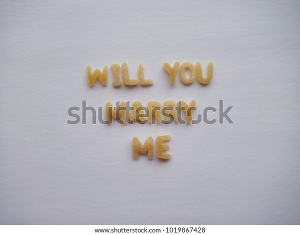Will you marry me letters