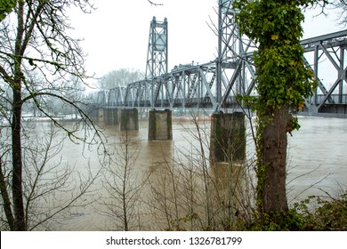 A Willamette River Bridge that has been converted to a pedestrian bridge, Salem, Oregon