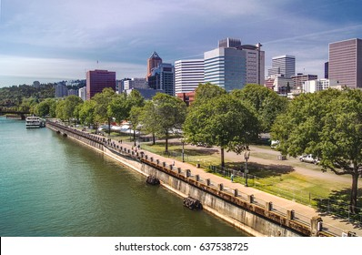 The Willamette River and Downtown Portland