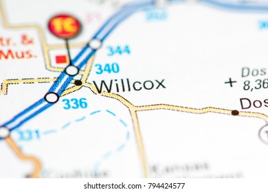 Willcox. Arizona. USA on a map