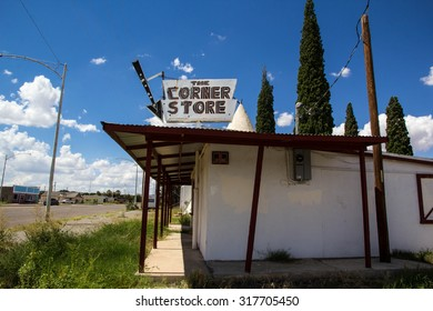 WILLCOX, ARIZONA, USA-SEPTEMBER 15: An abandoned store and tee pee like structure sit in Willcox on September 15, 2015. Small towns such as this are a haven for interesting old signs and buildings.