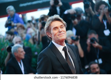 Willem Dafoe walks the red carpet ahead of the Award Ceremony during the 75th Venice Film Festival at Sala Grande on September 8, 2018 in Venice, Italy.