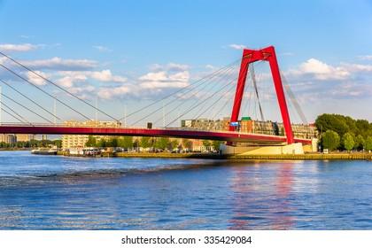 The Willemsbrug or Williams Bridge in Rotterdam - Netherlands