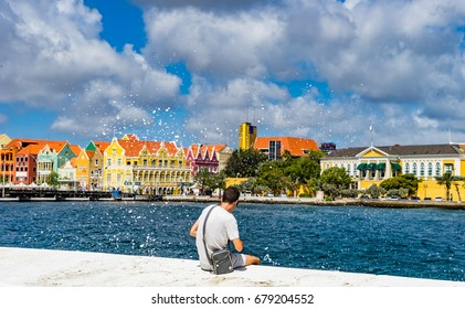 Willemstad capital city   views around Curacao a small Caribbean island