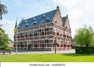 WILLEMSTAD, NETHERLANDS - JUL 28, 2016: Museum Mauritshuis in town of Willemstad, North Brabant, Netherlands