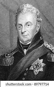 William IV (1765-1837). Engraved by unknown engraver and published in Illustrated History of England, United Kingdom, 1843.