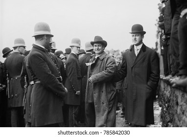 William Jennings Bryan escorted by 28 year old Franklin Delano Roosevelt, NYC, Oct. 27, 1908. Bryan was the Democratic Presidential Nominee for third and final time, and lost the election to William H