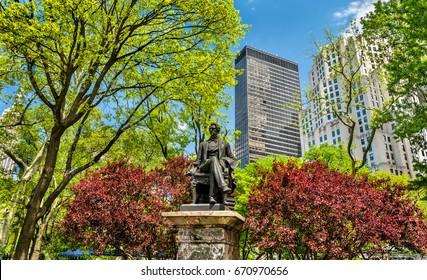 William Seward Statue at Madison Square Park in Manhattan - New York City, United States