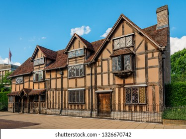 William Shakespeare's Birthplace at Henley street, in Stratford upon Avon, Warwickshire, England. It is one of the most interesting places to visit in UK.