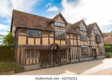 William Shakespeares Birthplace on Henley street in Stratford-upon-Avon in a beautiful summer day, England, United Kingdom