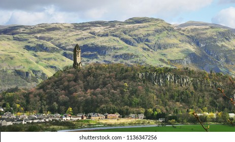 William Wallace Monument and Ochil Hills. Stirling, Scotland