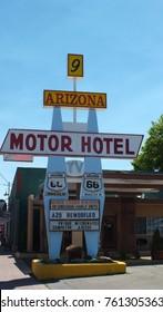 Williams, Arizona, USA, June 23, 2013: Arizona Motor Hotel sign on Route 66 in Williams, Arizona, USA.
