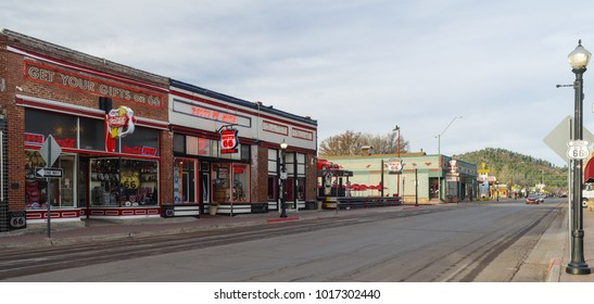 WILLIAMS, AZ, USA - MARCH 30, 2017: Williams is known as a gateway to Grand Canyon National Park.  This is a morning view of the main street in town.