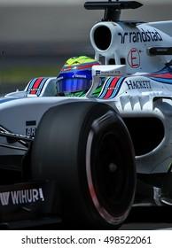 Williams Martini Racing's Felipe Massa during the free practice session of 2016 FORMULA 1 Petronas Malaysia Grand Prix at Sepang International Circuit, September 29, 2016.