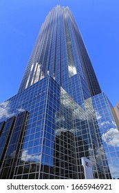 WILLIAMS TOWER, HOUSTON TEXAS USA 5-3-2020: The tower is among Houston's most visible buildings and is the 4th-tallest in Texas, The 64-story office tower in Uptown Houston was completed in Dec 1982.
