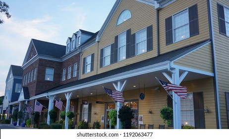 WILLIAMSBURG, VA - SEP 9: Yankee Candle Village in Williamsburg, Virginia, as seen on Sep 8, 2015. The store has over 400,000 candles in more than 200 different famous Yankee Candle scents.