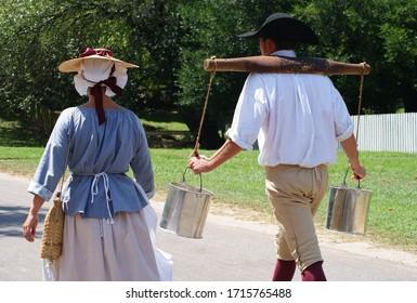 Williamsburg Virginia USA colonial costumes