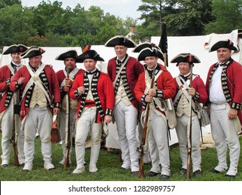 Williamsburg, Virginia / USA - June 2011: British soldiers in Colonial Williamsburg