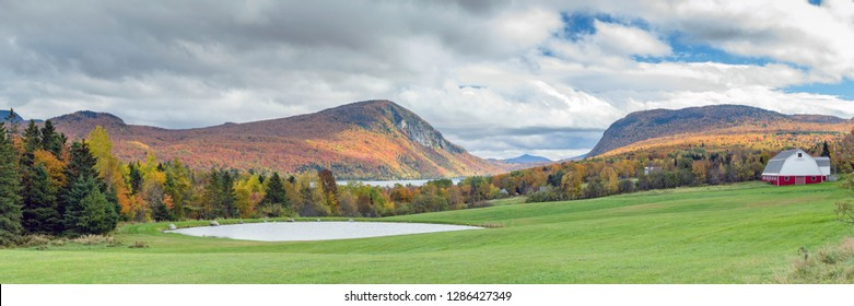 Willoughby Gap - Westmore, Vermont during fall foliage season in New England