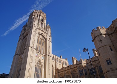 The Wills Memorial Building on Park Street, Bristol which is a part of the university