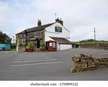 The Wills O Nats stone built country pub with stone slate roof and chimney pots Huddersfield Yorkshire England 20/06/2020 by RoyHinchliffe