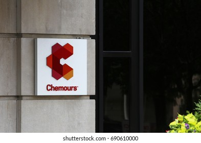 WILMINGTON, DE - JULY 17: The Chemours Company world headquarters in Wilmington, Delaware on July 17, 2017. The Chemours Company is an American chemical company that was founded in July 2015.