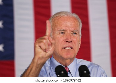 Wilmington, Delaware, United States - November 7, 2020:Joe Biden's full speech after becoming 46th President after beats Donald Trump to win US presidential election